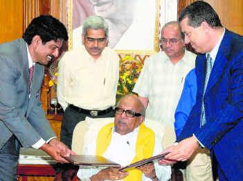 Khater massaad Karunanidhi MOU