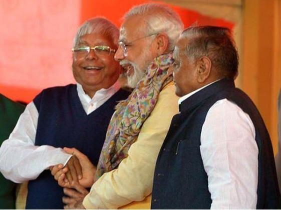 லல்லு, மோடி,  mullaayam - நக்கீரன் போட்டோ