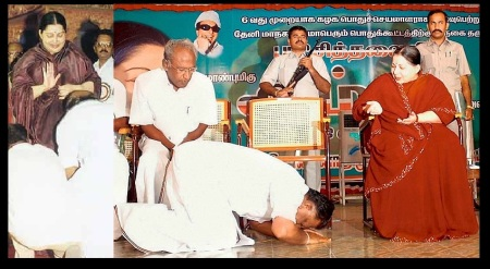 Jaya blessing prostrated